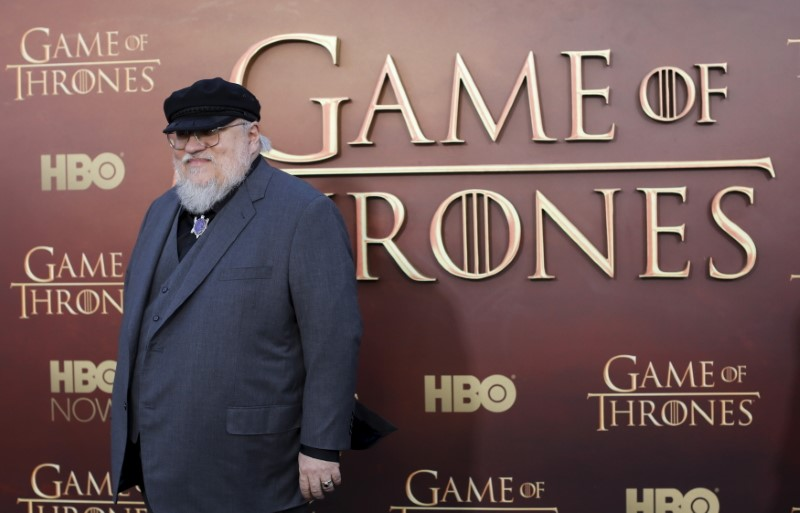 George R.R. Martin no evento da HBO sobre