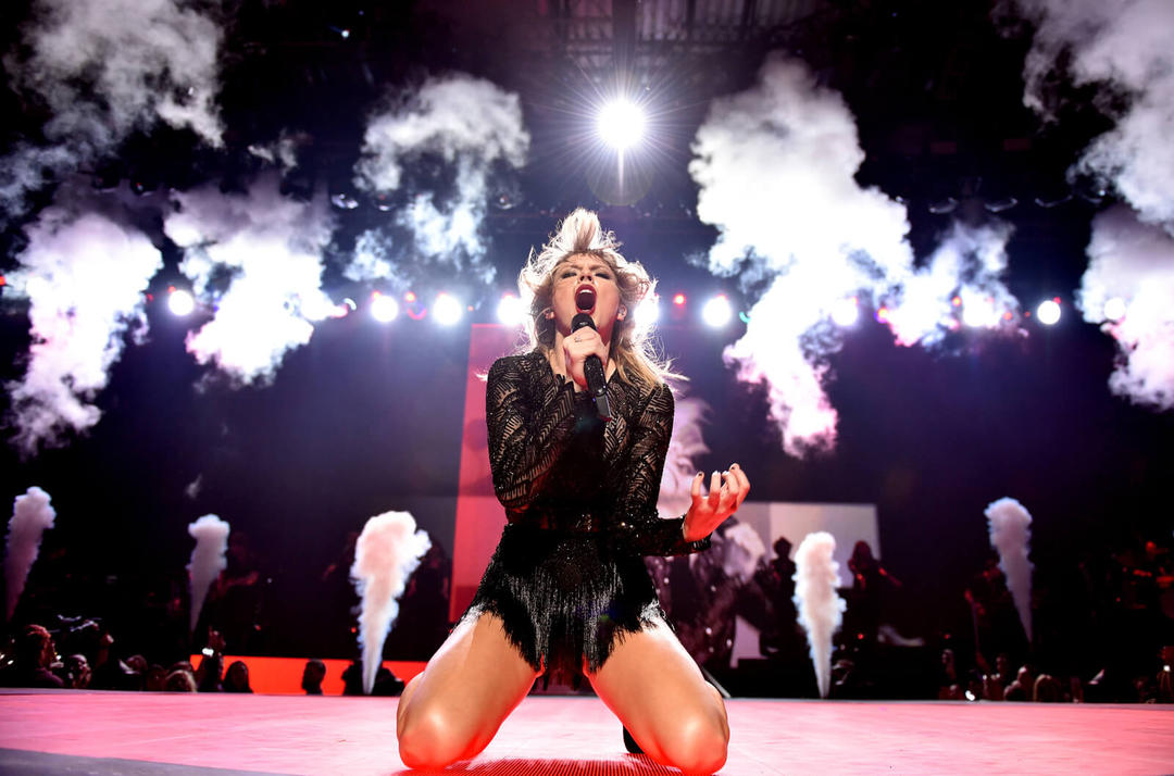 Pop star Taylor Swift faz concerto em Houston, Texas.
