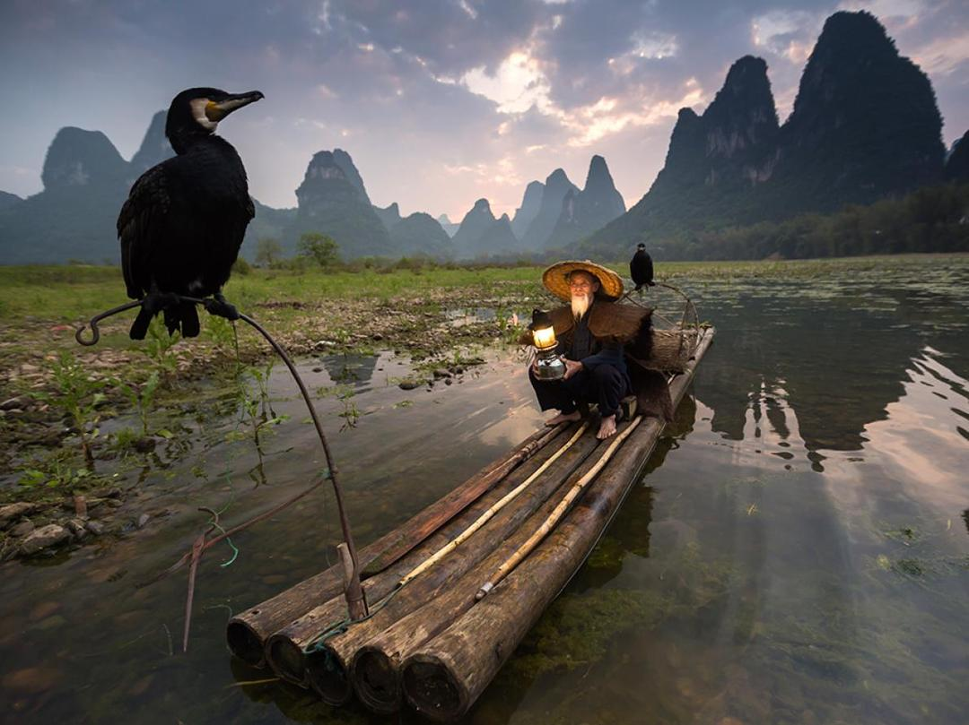Pescador de Xingping, China.